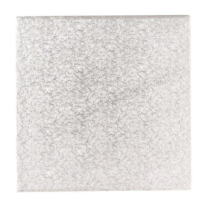 CULPITT: CARD-SGL THICK-SQ-SILVER-254mm (10
