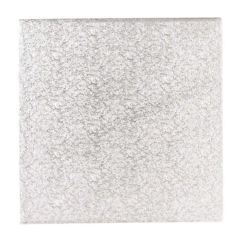 """CULPITT 15"""" (381mm) Single Thick Square Turn Edge Cake Cards Silver Fern (1.75mm thick) - PACK OF 25. STS15"""