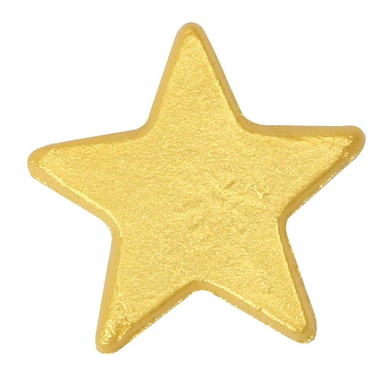 CULPITT: SUGARDEC-MOULDED-STAR-LUSTRE-GOLD-19mm