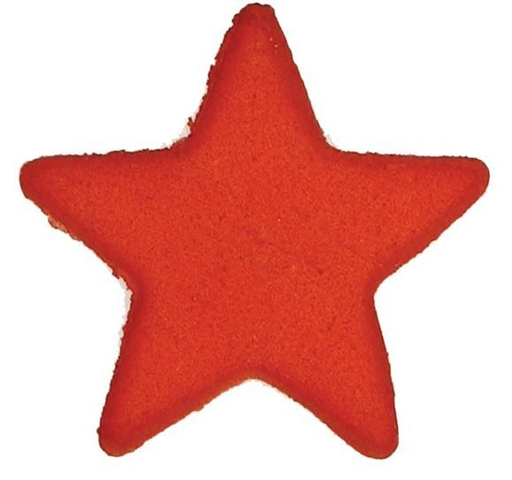 CULPITT: SUGARDEC-MOULDED-STAR-RED-19mm