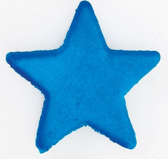 CULPITT: SUGARDEC-MOULDED-STAR-BLUE-19mm