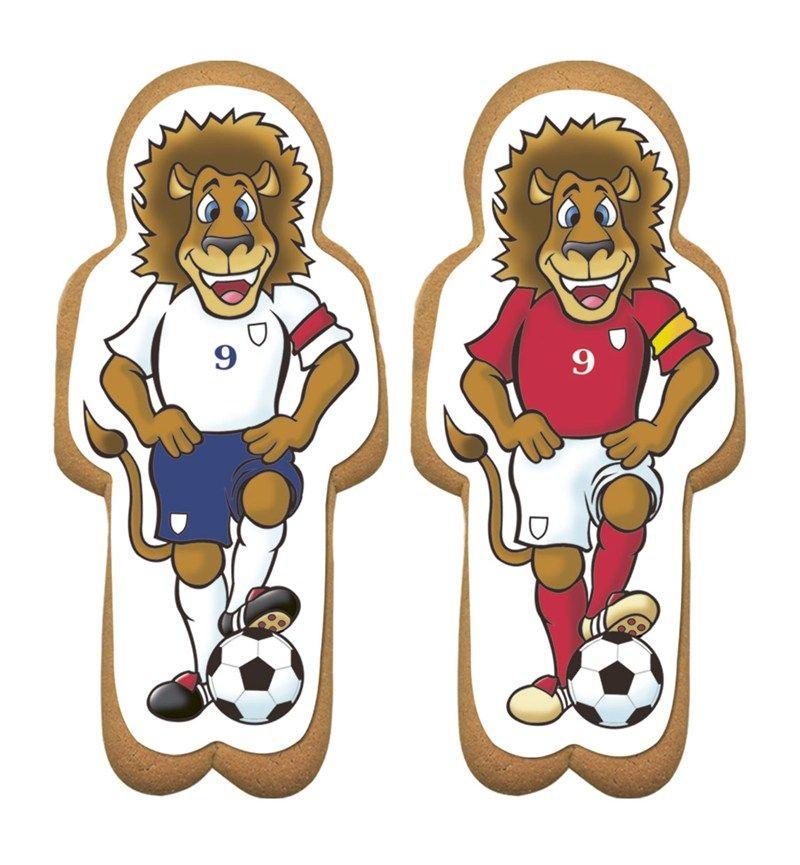 CULPITT Gingerbread Footballing Lion Sugar Plaques -75 x163mm - PACK OF 60. SUG716