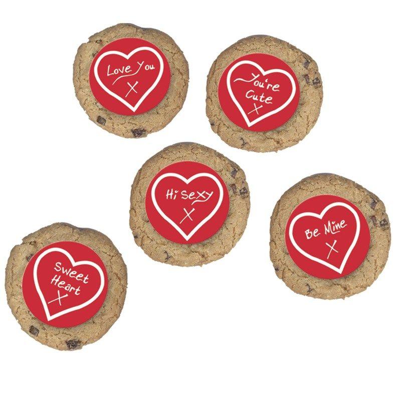 CULPITT Valentine Greeting Sugar Plaque -50mm - PACK OF 200. SUG721