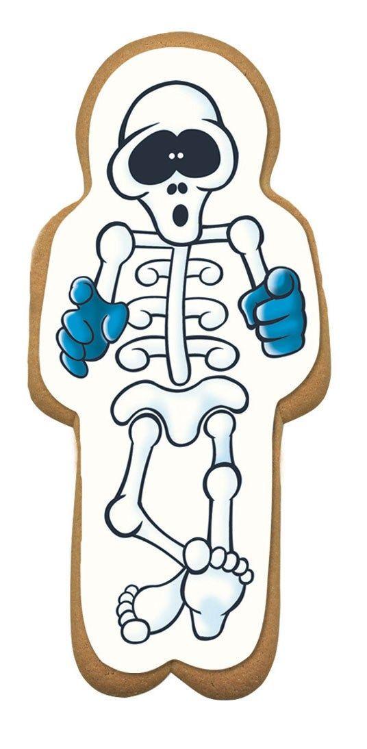 CULPITT Gingerbread Skeleton Sugar Plaque - 75 x 163mm - PACK OF 60. SUG735