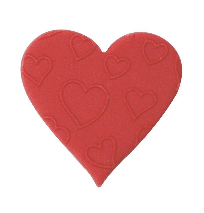 CULPITT: SUGARDEC-HEART-EMBOSSED-RED-38mm