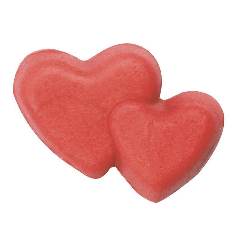 CULPITT: SUGARDEC-DOUBLE HEART-RED-18mm