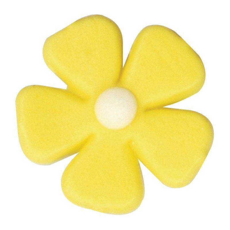 CULPITT: SUGARDEC-5 PETAL FLOWER-YELLOW-26mm