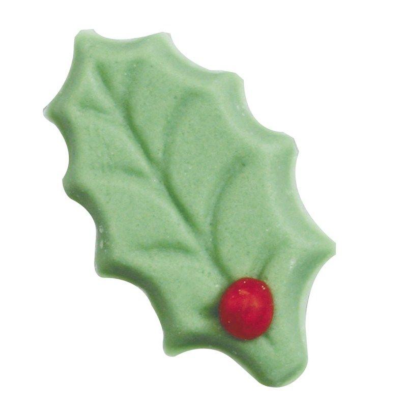CULPITT Light Green Sugar Single Holly - 24mm - PACK OF 432. SUG778