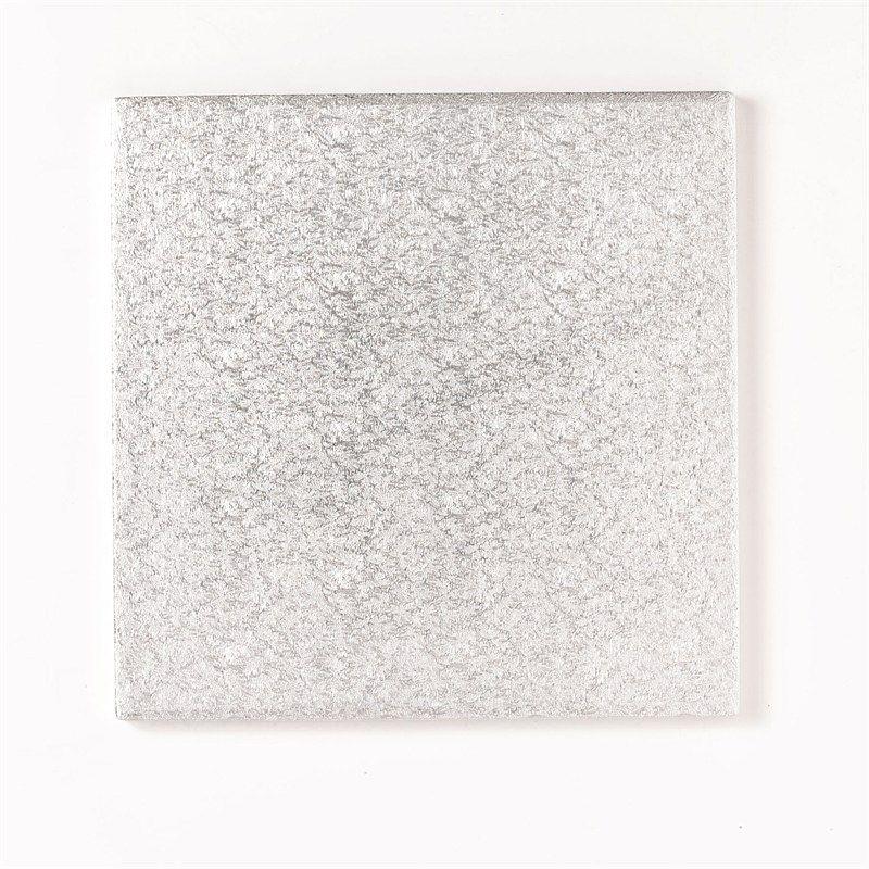 "CULPITT 10"" (254mm) Cake Board Square Silver Fern - PACK OF 5. SWD10F"