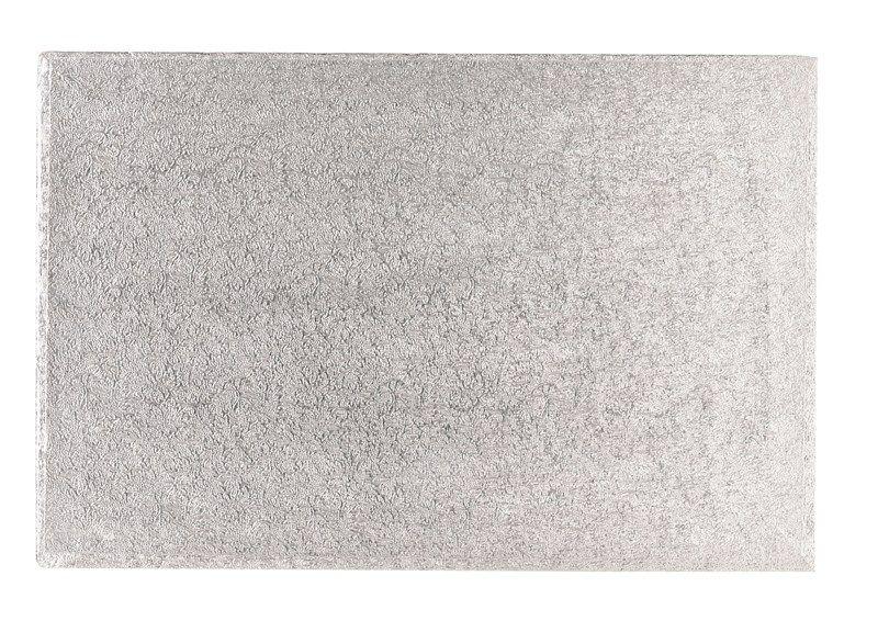 "CULPITT 10"" x 8"" (254 x 203mm) Cake Board Oblong Silver Fern - PACK OF 5. SWD10X8F"