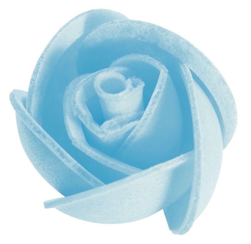 CULPITT: WAFERDEC-ROSES-SM-BLUE-24mm