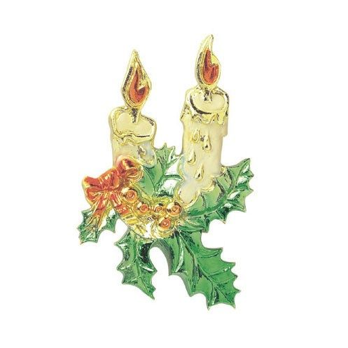 CULPITT: DECS-CHRISTMAS CANDLES-HALF RELIEF-63mm