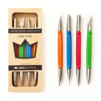Cake Dutchess set of 4 professional stainless steel modelling tools