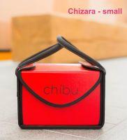 "Chibu small CHIZARA professional red cake carrier - 10"" x 10"" x 7"""
