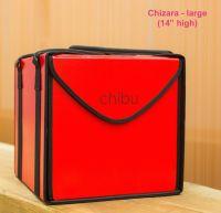 "Chibu large CHIZARA professional red cake carrier - 14"" x 14"" x 14"""