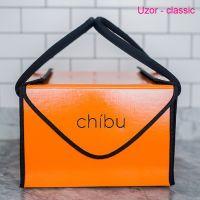 "Chibu classic UZOR professional orange cake carrier - 13"" x 13"" x 10"""