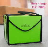 """Chibu large NMA professional lime green cake carrier - 15"""" x 15"""" x 12"""""""