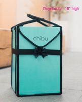 """Chibu large ONYEKACHI professional turquoise extra tall cake carrier - 12"""" x 12"""" x 18"""""""