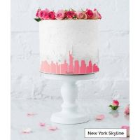 LissieLou ALL 4 City Skyline cake icing border stencils - BUNDLE