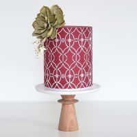 Silvia Favero AVRIL extra large double barrel cake icing stencil