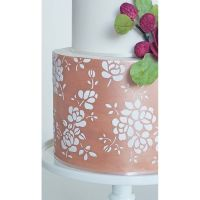 Silvia Favero FLORENCE extra large double barrel cake icing stencil