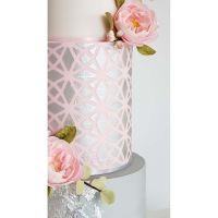 Silvia Favero GEMA extra large double barrel cake icing stencil