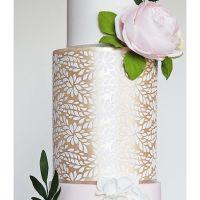 Silvia Favero LAVISH extra large double barrel cake icing stencil