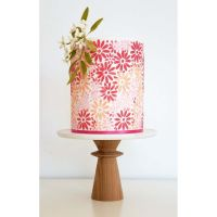 Silvia Favero MIL extra large double barrel cake icing stencil