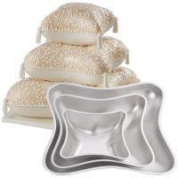 Wilton set of 3 Pillow 3D cushion cake tins / pans