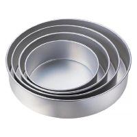 """Wilton set of 4: 8"""" / 10"""" / 12"""" / 14"""" - 3"""" deep Performance round cake tins baking pans"""