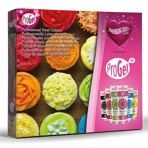 RAINBOW DUST Pro-Gel Mixed Pack 6 Assorted colours. RRP £15.95. CB Club Pri