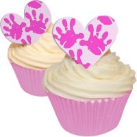 Baby Hands Pink - Heart Toppers