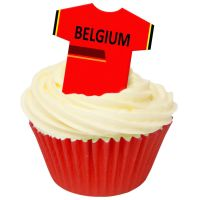 CDA Wafer Paper Pack of 12 Belgium Football Shirts
