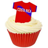 CDA Wafer Paper Pack of 12 Costa Rica Football Shirts