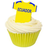 CDA Wafer Paper Pack of 12 Ecuador Football Shirts