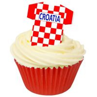 CDA Wafer Paper Pack of 12 Croatia Football Shirts