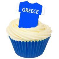 CDA Wafer Paper Pack of 12 Greece Football Shirts