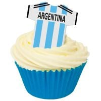 CDA Wafer Paper Pack of 12 Argentina Football Shirts