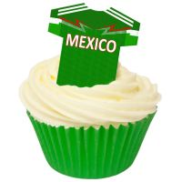 CDA Wafer Paper Pack of 12 Mexico Football Shirts