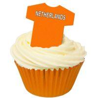 CDA Wafer Paper Pack of 12 Netherlands Football Shirt