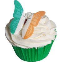 CDA Wafer Paper Pack of 12 Irish Flag Edible Wafer Butterflies