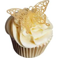 CDA Wafer Paper Pack of 12 Gold Lace Edible Wafer Butterflies