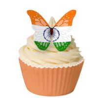 CDA Wafer Paper Pack of 12 Indian Flag Butterfly