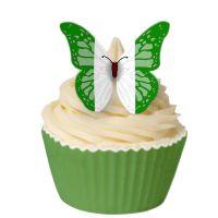 CDA Wafer Paper Pack of 12 Nigerian Flag Edible Wafer Butterflies