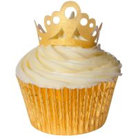 CDA Wafer Paper Pack of 10 Edible Wafer Gold Tiaras