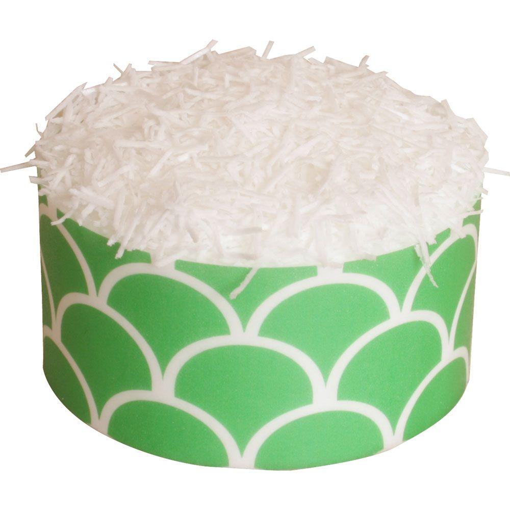CDA Edible Wafer Paper Pot (22g) White Sugar Free Sprinkles