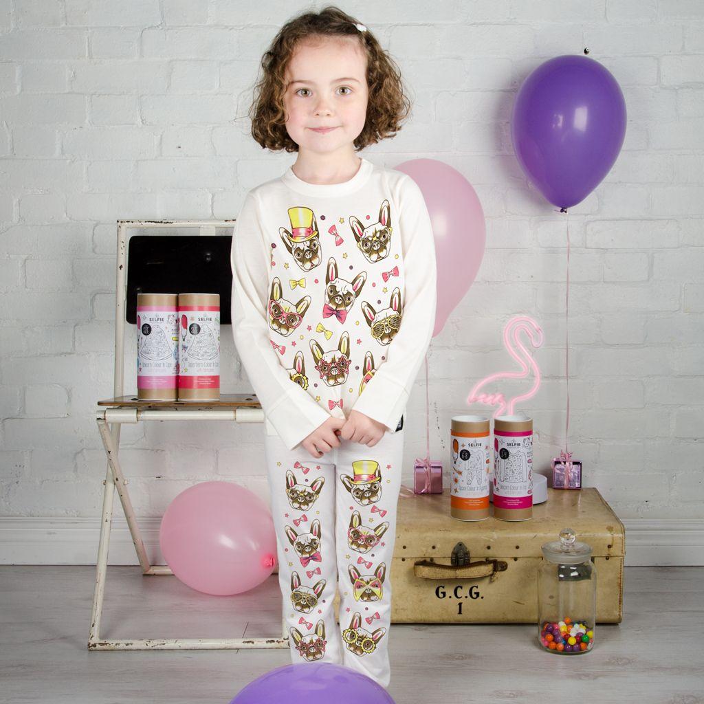 Selfie Clothing: French Bulldog Colour In Pyjamas