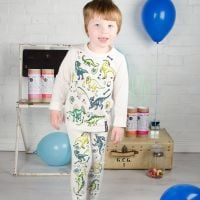 Selfie Clothing: Dinosaur Colour In Pyjamas