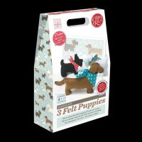 Crafty Kit Company: 3 Felt Puppies Sewing Kit