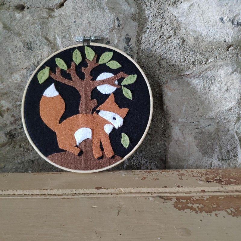Crafty Kit Company: Country Fox Felt Applique Kit